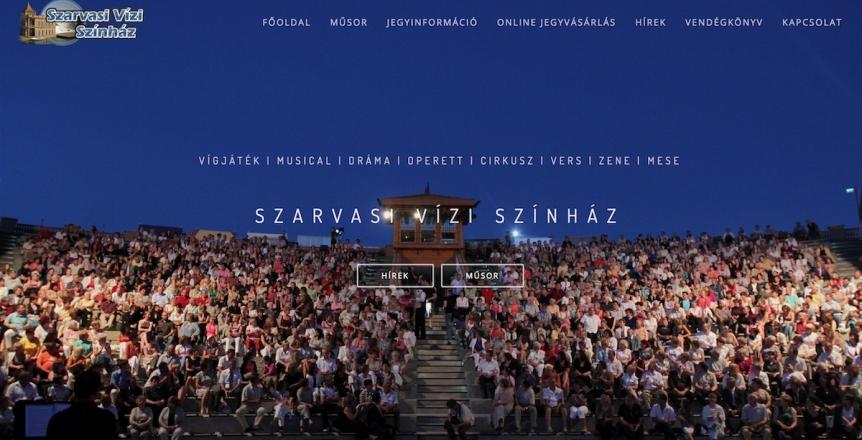 Szarvasi Vízi Színház weboldal készítés