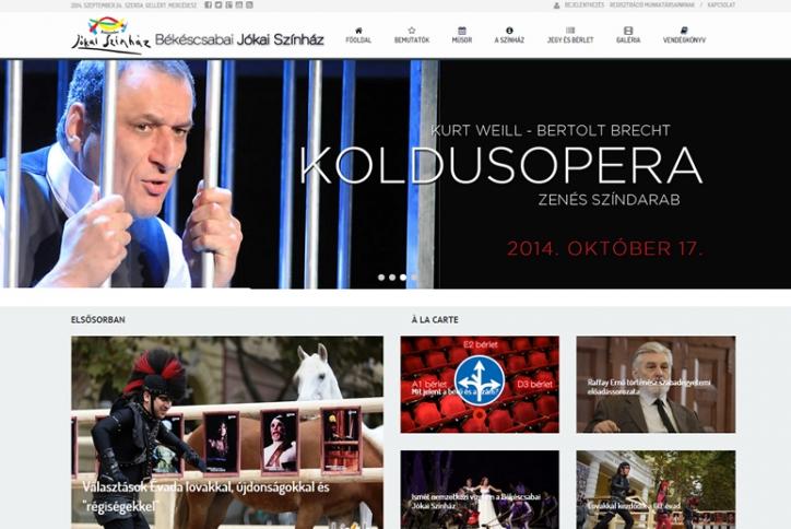 A Békéscsabai Színház weblapja