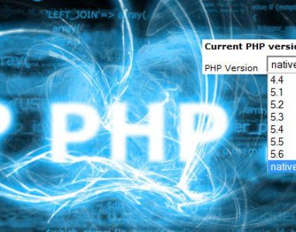 PHP verzió választó